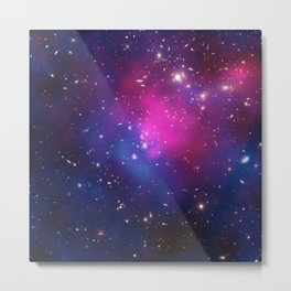 Dark Matter and Galaxies in a Cluster Metal Print