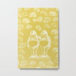 Tweedledum, Tweedledee and Caps Metal Print