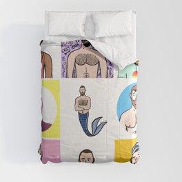 Beard Boy: Rainbow Boys 1 Comforters
