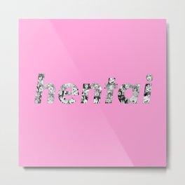 Ahegao Hentai Pink Metal Print
