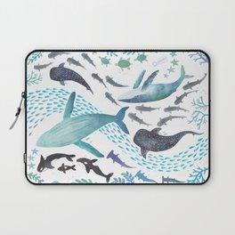 Sharks, Humpback Whales, Orcas & Turtles Ocean Play Print Laptop Sleeve