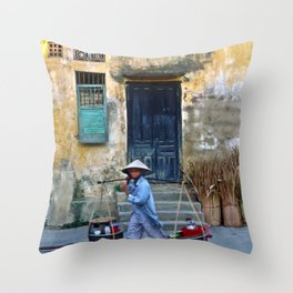 Vietnamese Street Sound Throw Pillow
