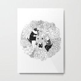 Quiet Family Time Metal Print