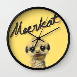 Meerkat   Yellowcard NO.1 Wall Clock
