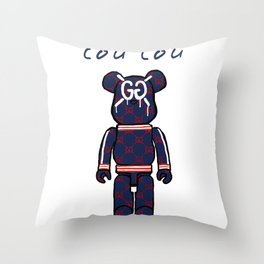 GG Bear Throw Pillow