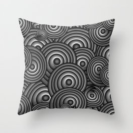 Charcoal Swirls Throw Pillow