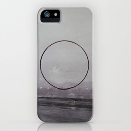 ROAD AND CIRCLE. Warecolor painting iPhone Case