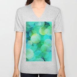 Green Bubble Unisex V-Neck