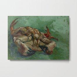 Crab on its Back Metal Print
