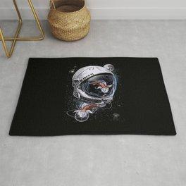 Fish Astronauts Rug