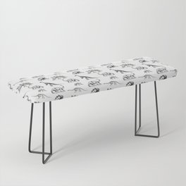Museum Animals | Dinosaur Skeletons on White Bench