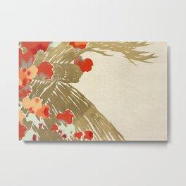 Kamisaka Sekka - Flowers from Momoyogusa Metal Print