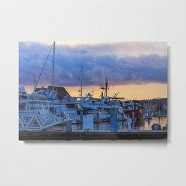 Morning at the marina Metal Print