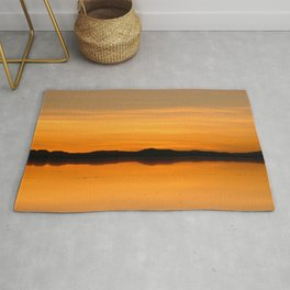 Sunset Salar de Uyuni 5 - Bolivia - Landscape and Rural Art Photography Rug