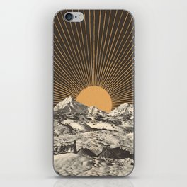 Mountainscape 6 - Night Sun iPhone Skin