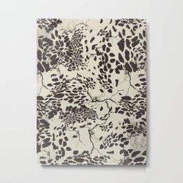 Spots B.W Metal Print