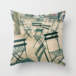Bryant Park Chairs Throw Pillow