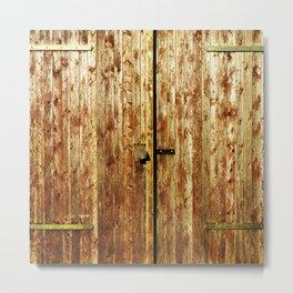Old Wooden Doors Metal Print