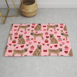 Sharpei valentines day love cupcakes hearts dog breed gifts pet friendly sharpei dogs Rug