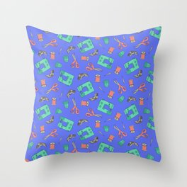 Sewing (periwinkle) Throw Pillow
