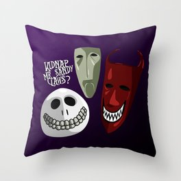 Kidnap Mr Sandy Claws? Throw Pillow