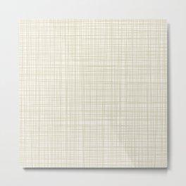 Burlap Barkcloth Metal Print