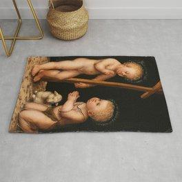 Lucas Cranach the Elder- Infant Jesus and John the Baptist as child Rug