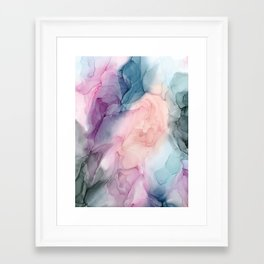 Dark and Pastel Ethereal- Original Fluid Art Painting Framed Art Print