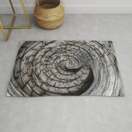Spiralled Wood - Abstract Photography by Fluid Nature Rug