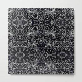 Drawing Floral Doodle G239 Metal Print