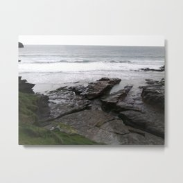 Trebarwith Cornwall Photo 766 Metal Print