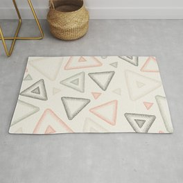 Retro Dotted Pattern 01 Rug