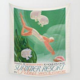 Vintage poster - Summer resort Wall Tapestry