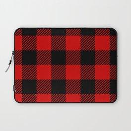 Red Lumberjack Pattern Laptop Sleeve