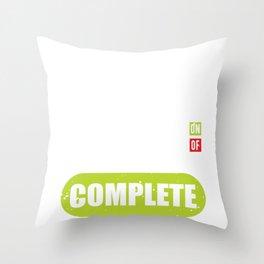 Tabata Workout Fitness Bootcamp Cardio Throw Pillow