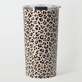 BLACK and WHITE LEOPARD PRINT – Ecru   Collection : Leopard spots – Punk Rock Animal Prints. Travel Mug