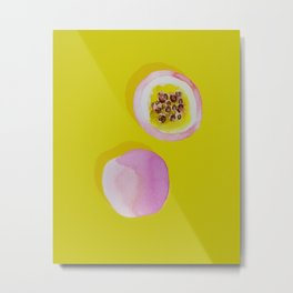 Pasion Fruit Metal Print