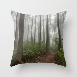 Smoky Mountain Summer Forest VIII - National Park Nature Photography Throw Pillow