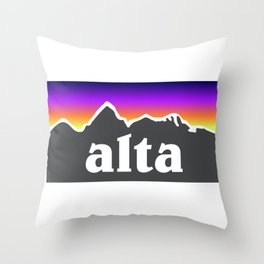 Alta Utah Ski Skiing Deer Valley Park City Trail Map Mountain Throw Pillow
