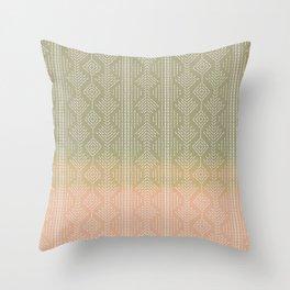 Moss/Peach Ombre needlepoint Throw Pillow