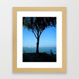 BAY AT MARBLEHEAD LIGHTHOUSE Framed Art Print