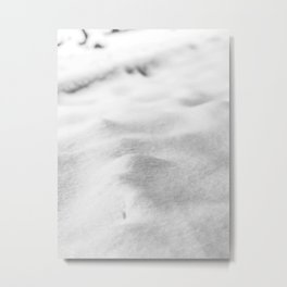 Snow Close up // Winter Landscape Powder Snowing Photography Ski Snowboarder Snowy Vibes Metal Print