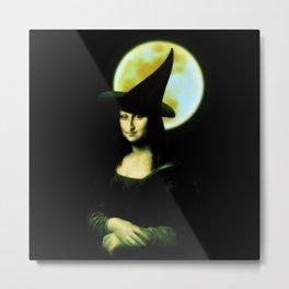 Mona Lisa Witchy Woman Metal Print