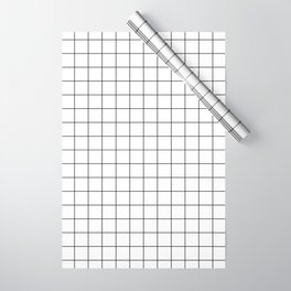Grid Pattern Stripes Lines Black and White Minimalist Geometric Stripe Line Wrapping Paper