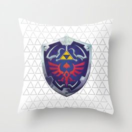 Link - Hyrule Shield - zelda Throw Pillow