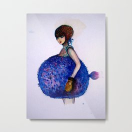 fish girl Metal Print