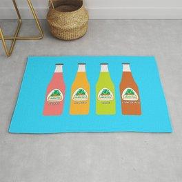 Jarritos the all natural fruit flavored sodas Rug