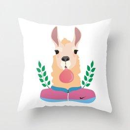 Sport Lama Throw Pillow