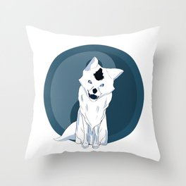 Yang Fox Throw Pillow