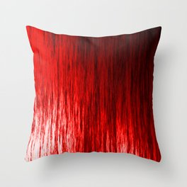 Bright texture of shiny foil of red flowing waves on a dark fabric. Throw Pillow